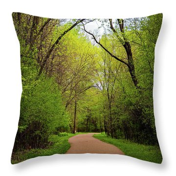 Path In The Forest Throw Pillow