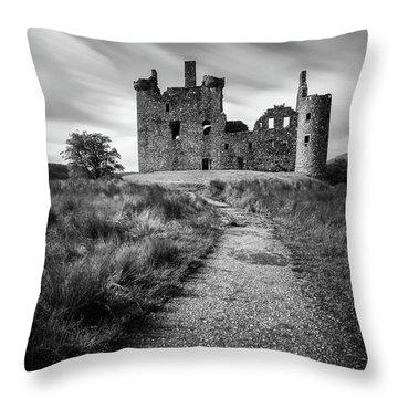 Path To Kilchurn Castle Throw Pillow