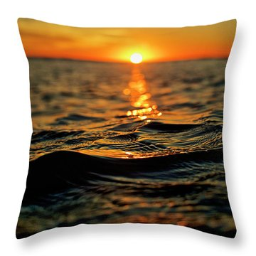 Throw Pillow featuring the photograph Pathway by Nik West