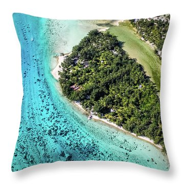 Bora Bora - Pathway To The Ocean Throw Pillow