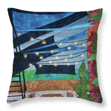 Patio At The Winds Throw Pillow