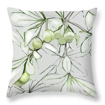 Patio Print Throw Pillow