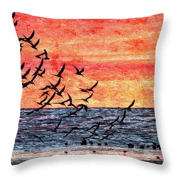 Patriotic Sunrise Throw Pillow