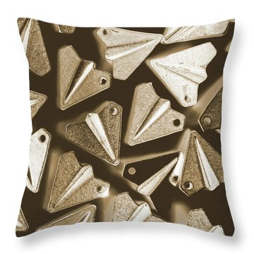 Patterned In Aviation Throw Pillow