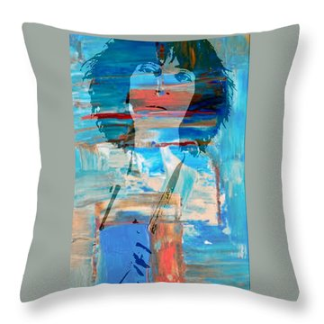 Patti Smith Throw Pillow