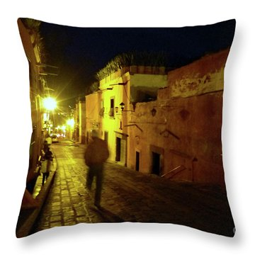 Throw Pillow featuring the photograph Patzcuaro Street by Rosanne Licciardi