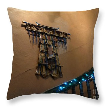 Throw Pillow featuring the photograph Patzcuaro Wall Hanging by Rosanne Licciardi