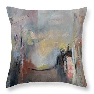 Throw Pillow featuring the painting Paula's Room by Jillian Goldberg