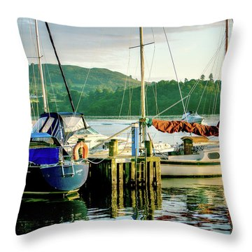 Peace In Lake Windermere Throw Pillow