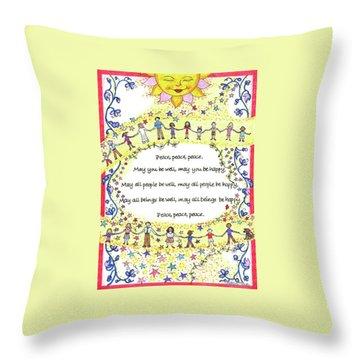 Peace, Peace, Peace Throw Pillow