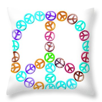 Peace United Throw Pillow