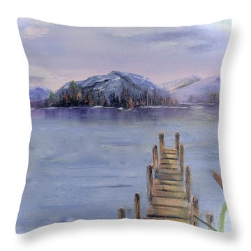 Peaceful Cattails Throw Pillow