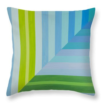 Peaceful Geometric Shade Throw Pillow