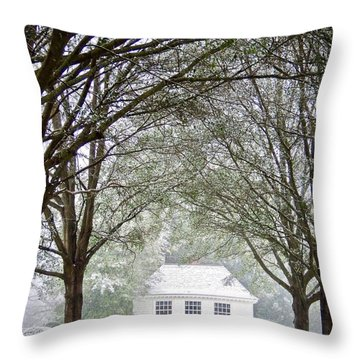 Peaceful Holiday Throw Pillow