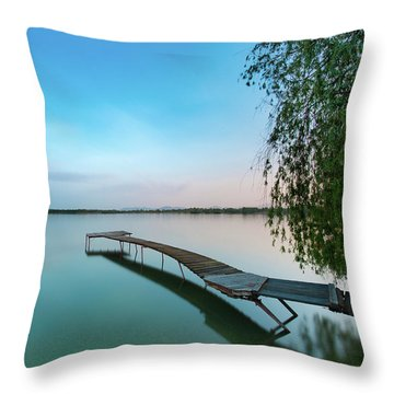 Peacefull Waters Throw Pillow