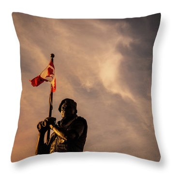 Peacekeeping Throw Pillow