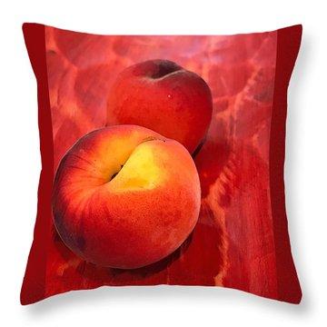 Throw Pillow featuring the digital art Peachy by Cindy Greenstein
