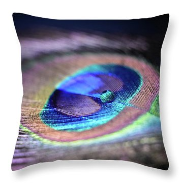 Throw Pillow featuring the photograph Peacocked by Michelle Wermuth