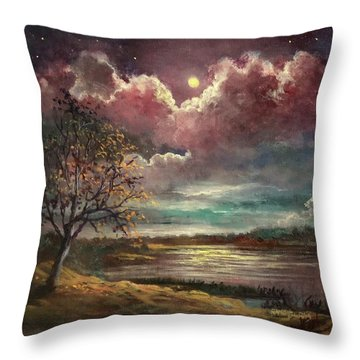 Pearl Of The Night Throw Pillow