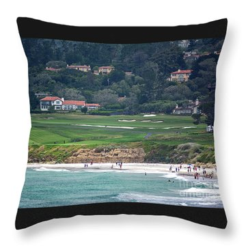 Pebble Beach Serenity After The Open Throw Pillow