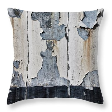Peeling Paint And Shadows Throw Pillow
