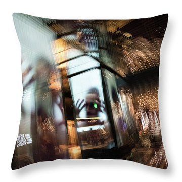 Throw Pillow featuring the photograph Peering Through by Alex Lapidus