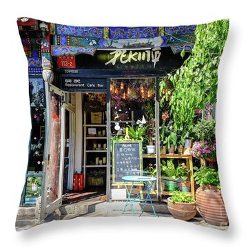 Peking Cafe Throw Pillow