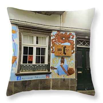 Throw Pillow featuring the photograph Pele Osso by Tony Murtagh