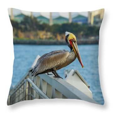 Peli-can Or Can't? Throw Pillow