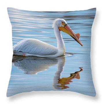 Pelican Reflection Throw Pillow