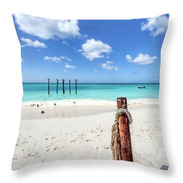 Pelicans Perch Throw Pillow