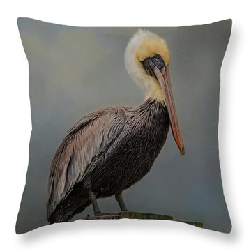 Pelican's Perch Throw Pillow