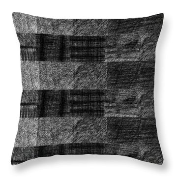Pencil Scribble Texture 1 Throw Pillow