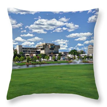 Throw Pillow featuring the photograph Pensacola Financial District by Anthony Dezenzio