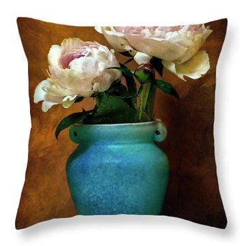 Peonies In Spring Throw Pillow