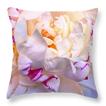 Throw Pillow featuring the digital art Peony Love 1 by Cindy Greenstein