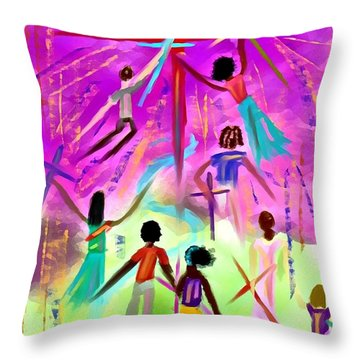 People Of The Cross Throw Pillow
