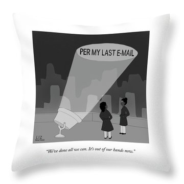 Per My Last Email Throw Pillow