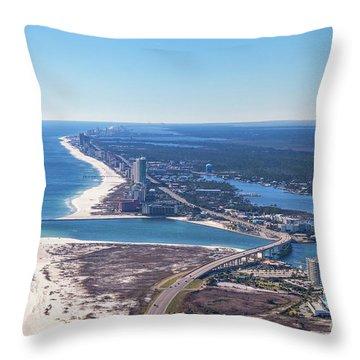 Perdido Pass Bridge Throw Pillow