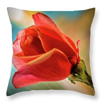 Perfect Bud Throw Pillow