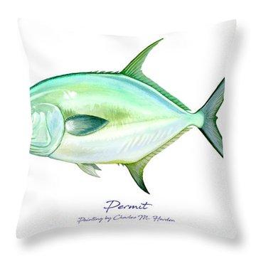 Permit Throw Pillow