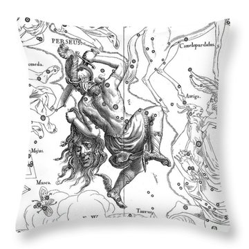 Perseus, The Boreal Constellation Of The Hero Throw Pillow