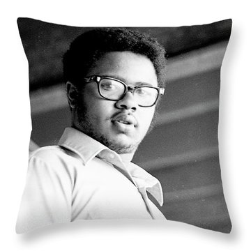 Perturbed High School Student, With Substantial Eyeglasses, 1972 Throw Pillow