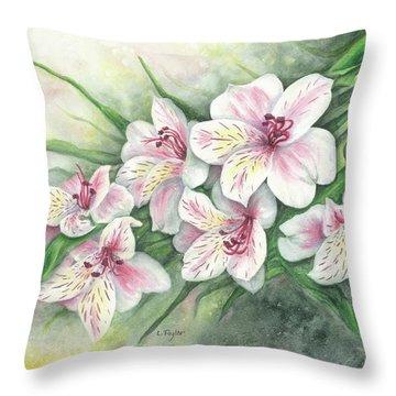 Peruvian Lilies Throw Pillow