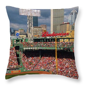 Peskys Pole At Fenway Park Throw Pillow