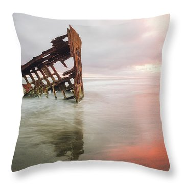 Throw Pillow featuring the photograph Peter Iredale Shipwreck by Nicole Young