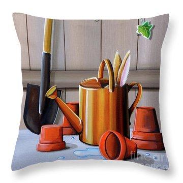 Peter Rabbit Hides Throw Pillow