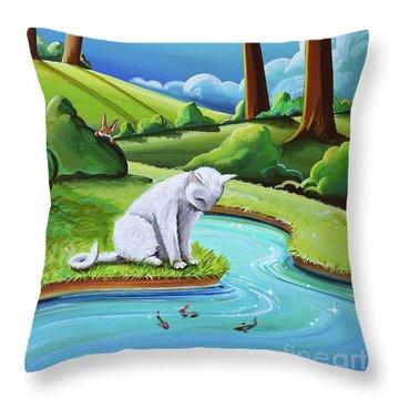 Peter Sees A Cat Throw Pillow