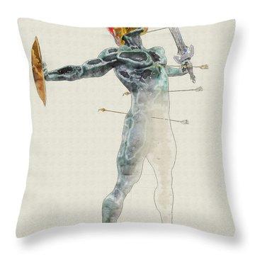 Petrified Soldier Throw Pillow