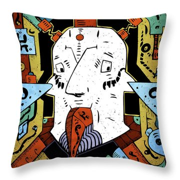 Throw Pillow featuring the drawing Petroleum by Sotuland Art